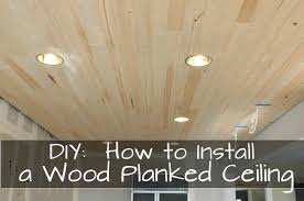 DIY how to install a wood planked ceiling
