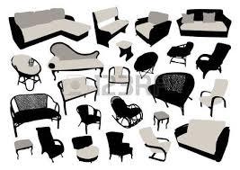 back of beach chair silhouette. Sofa And Chair Silhouettes Set Illustration Back Of Beach Silhouette N