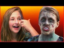 a little shows you how to save money and create your own y zombie face with regular makeup you may already have at home and some flour and water
