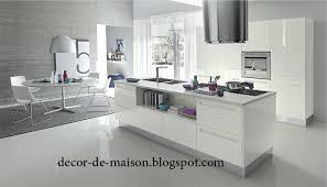 Organisation Deco Cuisine Moderne Blanc Photo Déco