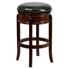 stunning cherry wood swivel bar stools saddle backless tar chairs dark of white saddle bar stools