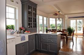 top gray kitchen cabinets