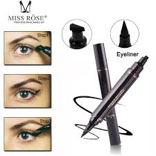 miss rose liquid eyeliner st pencil quick dry waterproof black color cat eye wing eye liner