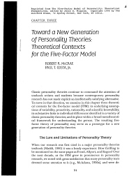 personality theories pdf toward a new generation of personality theories theoretical