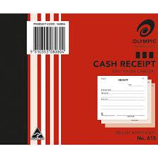 Olympic No 615 Cash Receipt Book Carbon Triplicate 100 Leaf