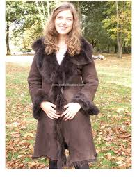 las 3 4 length toscana sheepskin coat