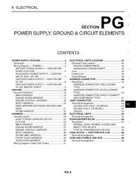 2002 nissan sentra power supply ground circuit elements 2002 nissan sentra power supply ground circuit elements section pg 60 pages