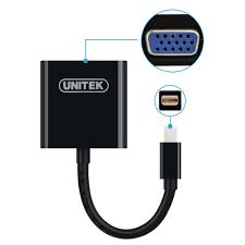 Cáp chuyển Unitek Mini Displayport sang VGA + HDMI Y6328BK