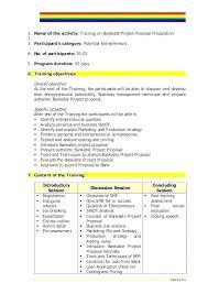 Training Outline Template Word Workshop Format Proposal