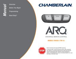 Chamberlain Klik1u Compatibility Chart Arq Universal Remote Control Manualzz Com