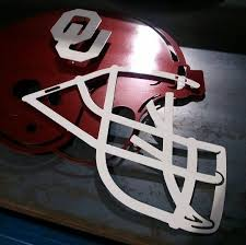 custom ou football helmet steel by crafting iron custommade com