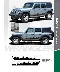 2020 Jeep Colors Chart 2007 2018 2019 2020 Jeep Wrangler Jl Unlimited Side Door Decals Scape Vinyl Graphic Door Stripes Kit