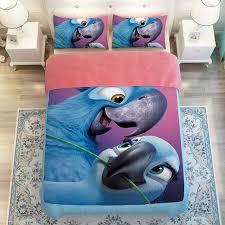 cute blue parrot 3d bird print bedding twin queen king size duvet cover set soft polyester