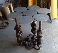 Metal Furniture Art Metal table created from scrap