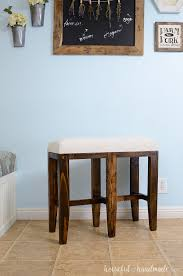 Barstool Benches Are The Perfect Way To Easily Add Lots Of Seating Around  Your Kitchen Island Or Bar This DIY Double Bar Stool Bench Will Fit 2 People And  Build Own Stools84