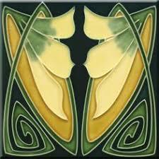 6X6 Decorative Ceramic Tile Art Nouveau decorative Ceramic tile 600 X 600 Inches 60 by 19