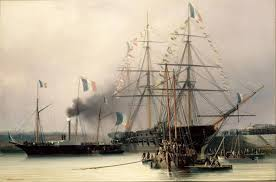 the death of bonaparte and the retour des cendres french the coffin transshipped from belle poule to the steamship normandie cherbourg 8 1840 latildecopyon morel fatio 1841