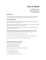 Caregiver Resume Objective Certified Optician Resume Recommendation