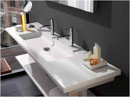 undermount trough bathroom sink with two faucets looking for sinks amusing trough bathroom sink with