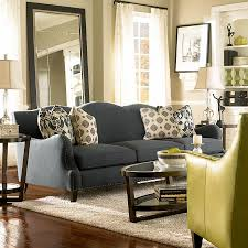 Yellow Living Room Decorating Living Room Gray Recliners White Shelves Brown Chairs Gray Sofa