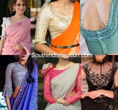 Statement Blouse Designs Trending Hot Frilled Sleeves Saree Blouses Fancy Blouse