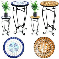 stone top patio table cleaning tables turquoise mosaic bistro tile accent outdoor round slate console faux con
