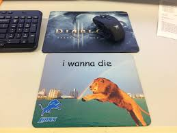 imagei made myself a new mouse pad at work today