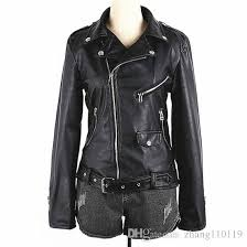 moto leather jacket womens. women moto jacket 2016 new design classic faux leather biker outerwear for woman ladies punk style slim fit coat fashion pu tops jackets womens