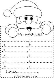 Print Out Christmas Wish List To Santa Write Template Kids