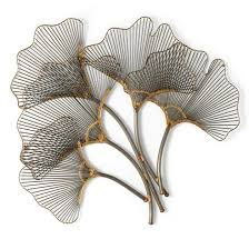 >ginkgo leaves metal wall art grandin road ginkgo leaves metal wall art