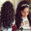 Quinceanera hairstyles with bump and curls 2017