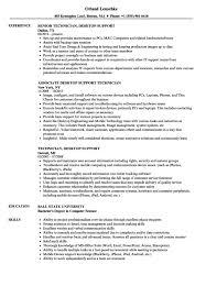 Support Technician Resume Desktop Support Technician Resume Sample Resume Sample