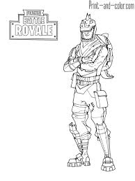 Fortnite Battle Royale Coloring Page Rex