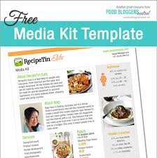 Media Kit Template Free Food Bloggers Central