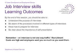 Job Interview Types Job Interview Skills Learning Outcomes