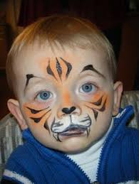 tiger face paint ideas for little ones