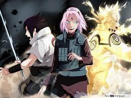 Naruto - Team 7: Sasuke, Sakura und Naruto HD Hintergrundbilder  herunterladen