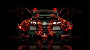 bugatti veyron tuning back fire car