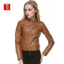 2019 2018 autumn winter women faux leather jackets and coats lady pu motorcycle brown zipper coat streetwear biker outerwear from guchen3 43 71 dhgate