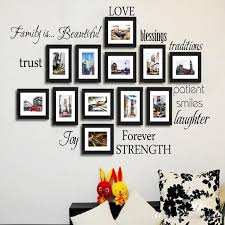black set of 12 family words wall decor vinyl wall stickers picture frame family wall decals room art decoration home decor wall art stickers home decor
