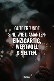Gute Freunde Sind Wie Diamanten Einzigartig Wertvoll Und Selten