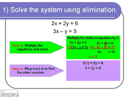 solving systems of equations by elimination using multiplication