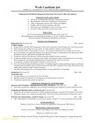 Inspirationa Resume Objective Examples Hospitality Management