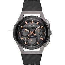 "bulova watches men s ladies bulova watch shop comâ""¢ mens bulova progressive curv titanium chronograph watch 98a162"