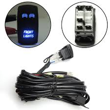 blue led lights bar laser front rocker switch wiring harness rzr mictuning wiring harness installation at Light Bar Wiring Harness Bulk