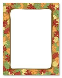 Free Printable Fall Border Stationery Vectorborders Net
