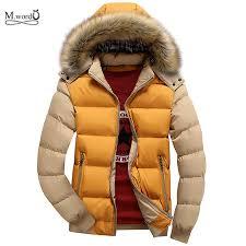 mens jacket parka warm winter men warm hooded collar coat men thick overcoat
