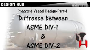 Pressure Vessel Design Asme Pressure Vessel Design Part 1 Difference B W Asme Div 1 Div 2