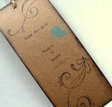 Save The Date Bookmark Rustic Wedding Hand Typed Vintage Inspired