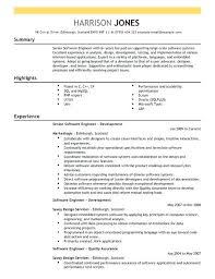 Best Resume For Software Engineer Sample Resume For Software Developer Sample Resume For Experienced